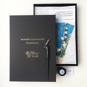 Modern calligraphy kit with book