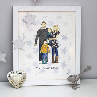 Personalised Family Portrait Picture