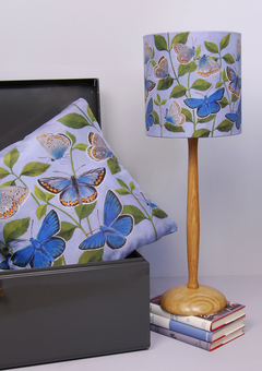 Butterflies cushion and small lampshade