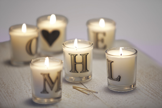 Hand Poured Alphabet Candles