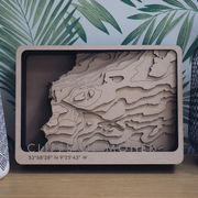 Topographic Wood Map