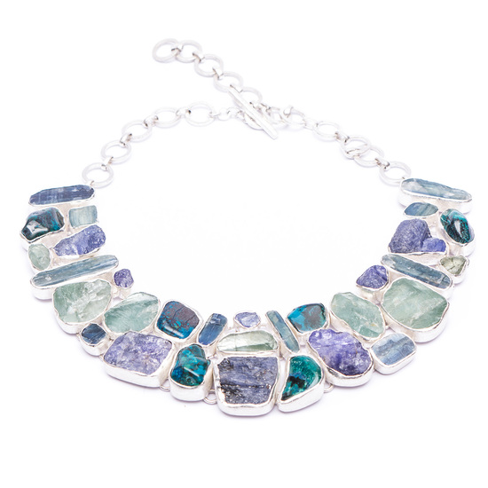 natural gemstone sterling silver statement jewellery