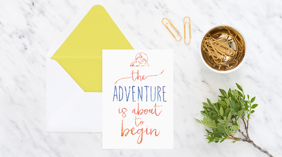 adventure wanderlus typography card