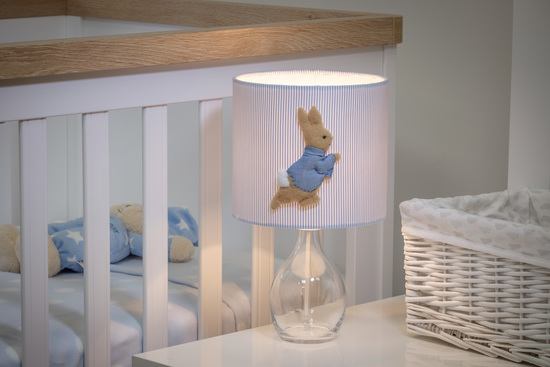 Peter Rabbit™ shown in 3D on a Children's lampshade.