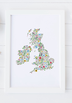 Floral map of The British Isles
