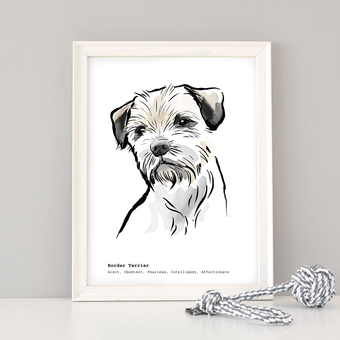 customised dog breed print