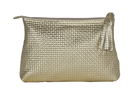 Large Gold make up bag/clutch