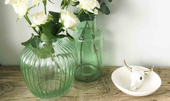 Vintage Glass Vases | The Den & Now
