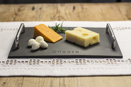 Welsh slate 'Cheese' engraved board