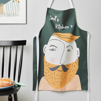 personalised face apron for men