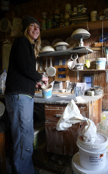 michelle freemantle of creatively occupied in her studio