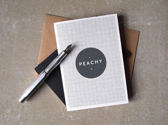Peachy Midtown Greetings Card
