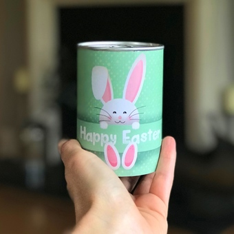 easter Bunny Personalised Tin