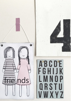 Friends wall hanging /alphabet wall hanging