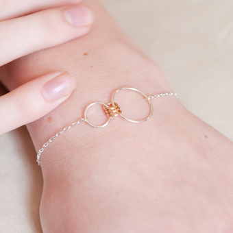 Infinity family link bracelet