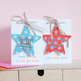 Hand painted star gifts for parents