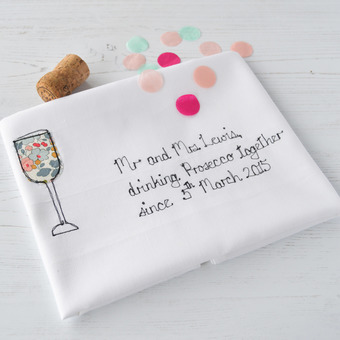 Tea Towel Gift For Prosecco Lovers