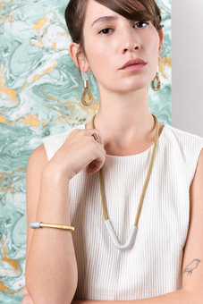 gold summer rope jewellery retro