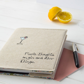 Personalised Notebook For Gin Lover