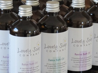 Lovely Soap Company natural bath oils