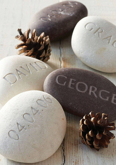 Personalised Engraved pebbles