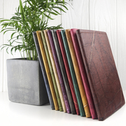 Colourful vegan leather books