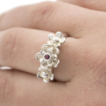 handmade Silver flower ring