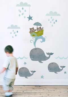 Owl & Pussycat Wall Sticker