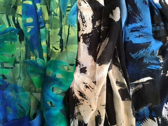 summer multi print scarves