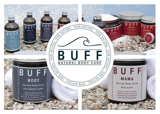 BUFF Natural Body Care Product Banner