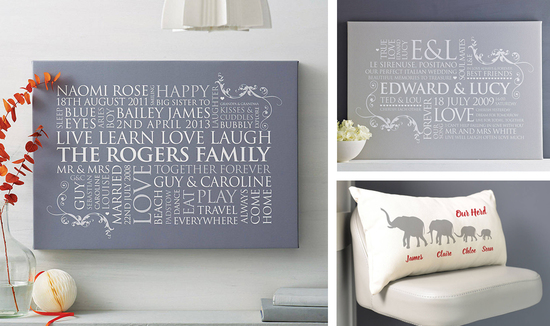 Personalised Family Word Art Typography