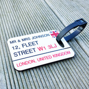 British Luggage Tag