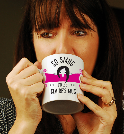 Drinking from a personalised mug