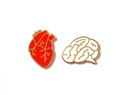 Heart and Brain Pins