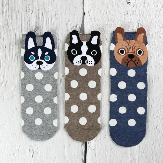 Cute little Pugs from our Box of Socks range