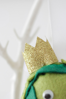 Crown on Brussel Sprout Christmas Decoration