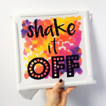 Shake it off, modern cross stitch kit