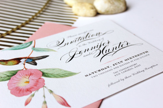 Botanical Pocketfold Wedding Invitation