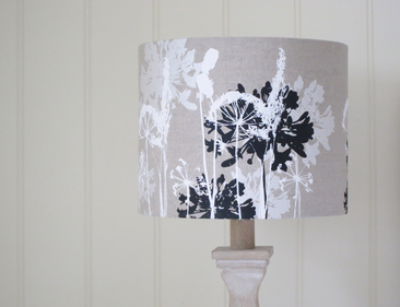 Black and White floral lampshade
