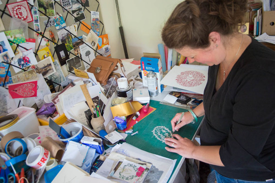 Louise at work in her studio