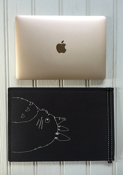 Totoro Inspired embroidered  Mac Book Case