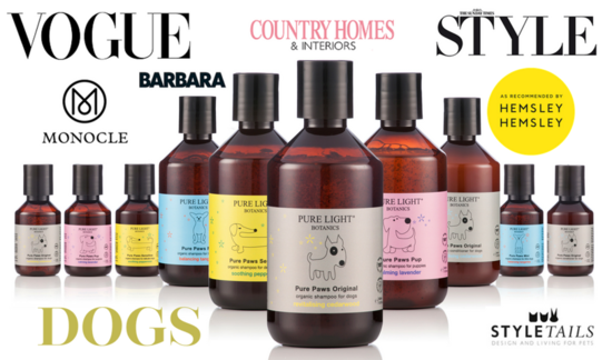 Award-winning organic products for bath & body, home scenting and dogs