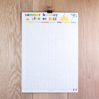 summer holiday wall planner