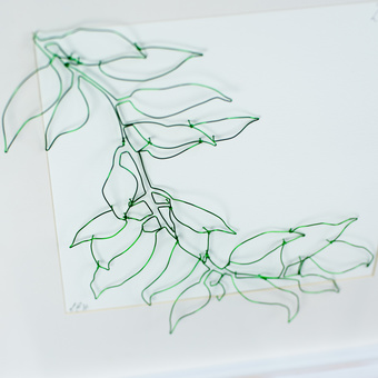 Cascading leaves in wire