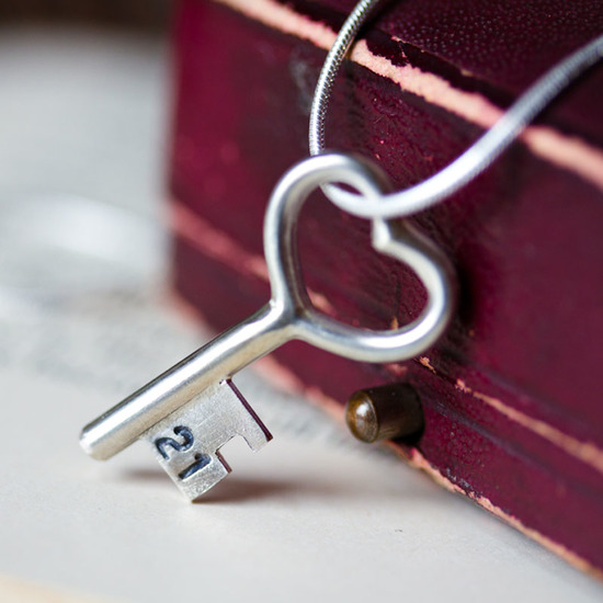 A favourite twenty first gift, a simple solid sterling silver key necklace
