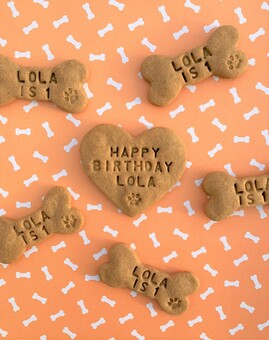 Personalised Birthday Dog Biscuits Treats