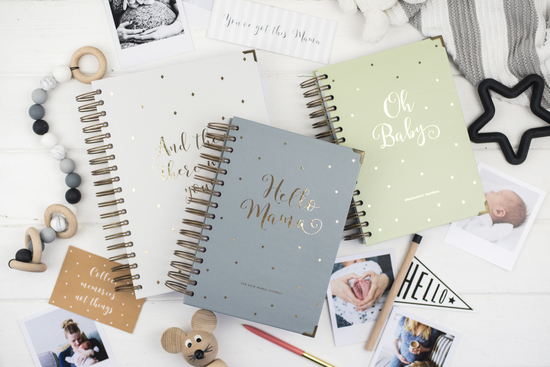 baby journals for the new mum or mum-to-be