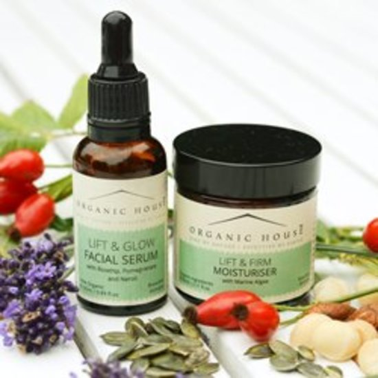 Organic House facial serum and moisturiser