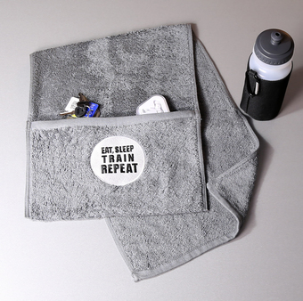 Personalised Zipped Pocket Gym Towels