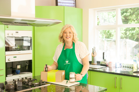 Me & my very green kitchen!